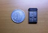 超小型マイクロレシーバと1円玉との比較