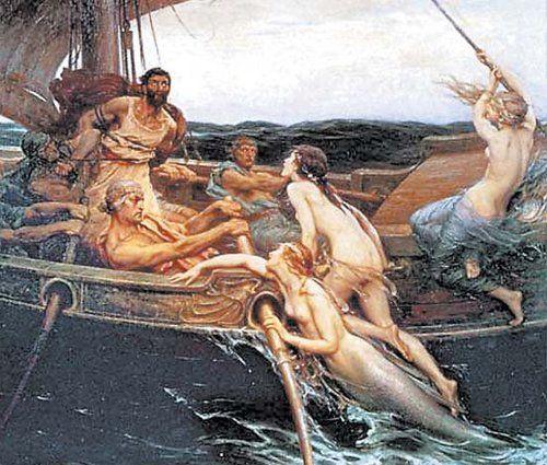 Odiseo y las sirenas del Egeo.