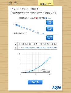 関数y=ax2 さわってうごく数学「AQUAアクア」 screenshot 8