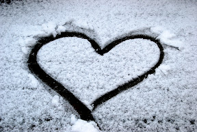 Heart I drew in the snow
