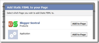 add static FBML to page