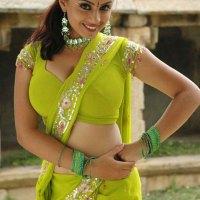Actress in Green Saree
