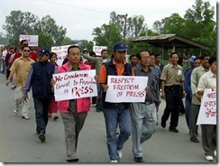 journalist Protest in Manipur