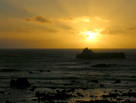 sunset at Cape Mendocino, wildest place I have been to on the California coast