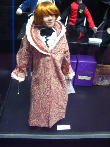 A figurine of Ron in his amazingly-awful Yule Ball robes/