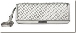 burberry METALLIC WOVEN LEATHER CLUTch
