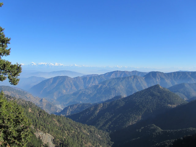 "Himalyan View from ""Naina Peak or China Peak"""
