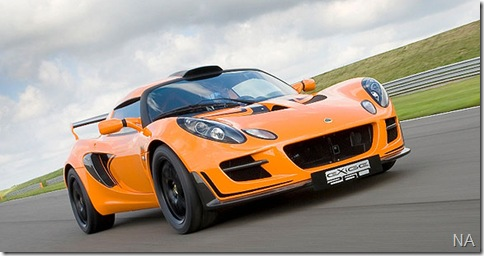 Lotus Exige Cup 260 MY2010 f3qtr track small_640x408