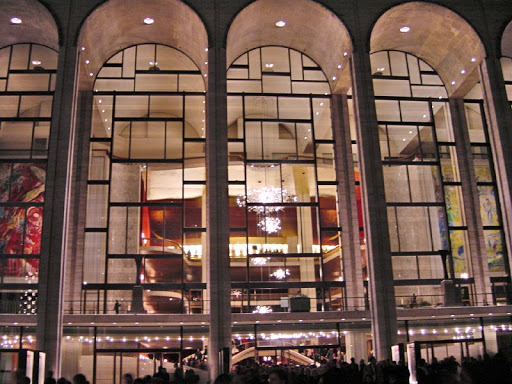 Metropolitan opera at night