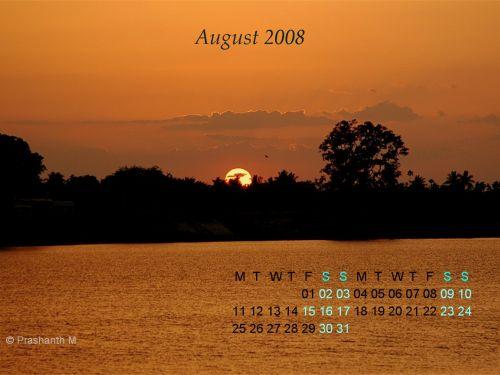 Desktop Calendar: August 08