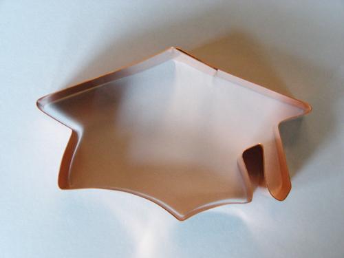 mortarboard cap cookie cutter