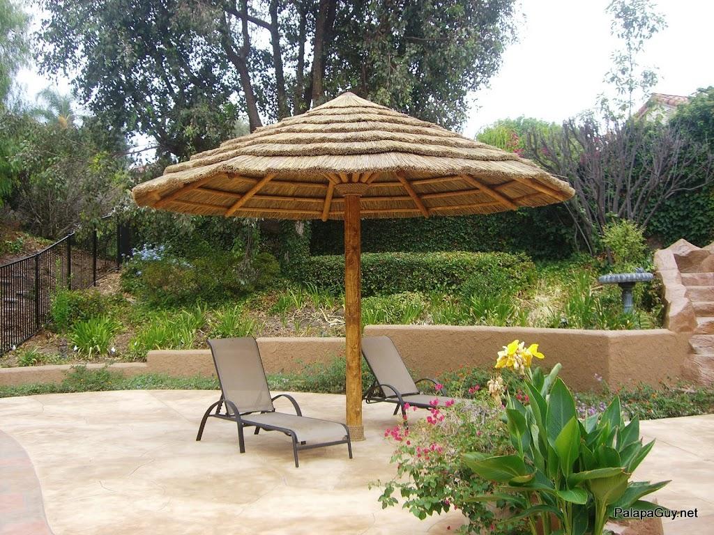 9ft Palapa Umbrella Kit BBQ Island Tiki Thatch Hut Bar | eBay on Palapa Bar Backyard id=11209