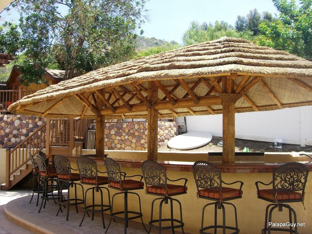 9ft Palapa Umbrella Kit BBQ Island Tiki Thatch Hut Bar | eBay on Palapa Bar Backyard id=48188
