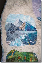 blue enviornment color wheel quilt