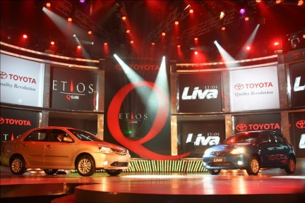 Toyota Etios Q Class and Toyota Etios Liva