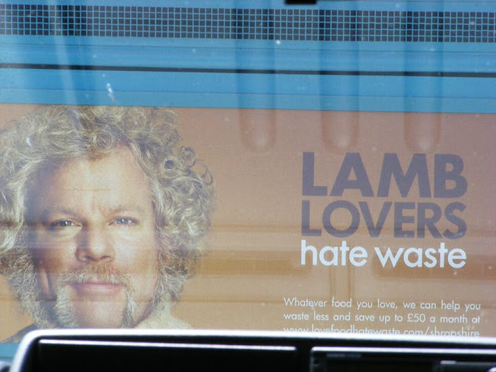 Amusing advert on the back of a bus as we went over the bridge in Beddgelert