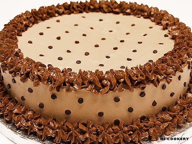 Chocolate Chip Crème de Cacao Cake