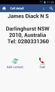 Sybla Australia - Caller ID screenshot 1