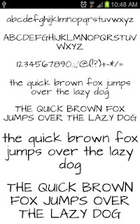 Fonts Hand for FlipFont® Free screenshot 00