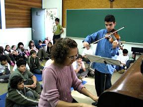 Apresentação do violinista