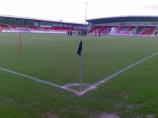 Wrexham inspect the pitch...