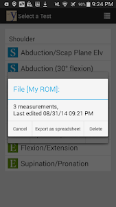 yROM Shoulder Elbow Goniometer screenshot 6