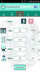 BMI Ideal weight and calories screenshot 14