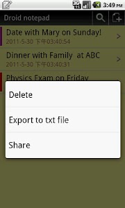 Droid notepad (Ad-Free) screenshot 5