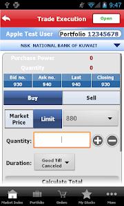 Gulf Bank Mobile Trader screenshot 3