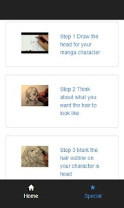 how to draw manga hair screenshot 1