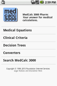 MedCalc 3000 Pharmacology screenshot 0