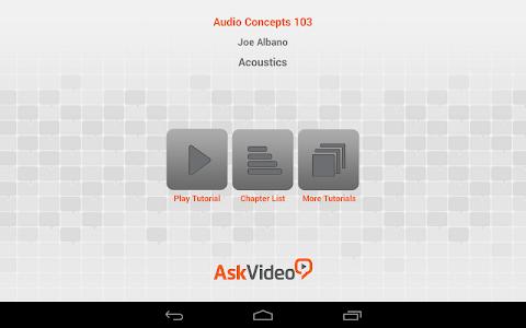 Acoustics Concepts Course screenshot 1