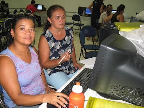 Cilene e Ana Célia, multiplicadoras do NTE