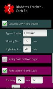 Diabetes Tracker Carb Ed. screenshot 7