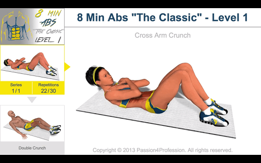 8 Minutes Abs Workout screenshot 20