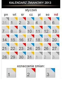 Kalendarz zmianowy screenshot 0