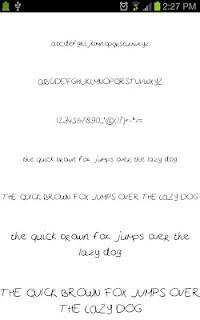 Neat Fonts for FlipFont free screenshot 02