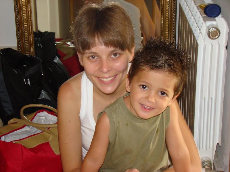 Daniel, pelos pinchos, y la tia Maria