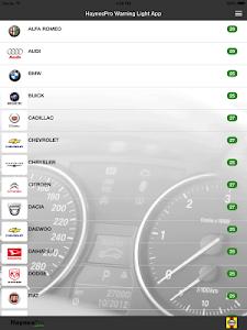 Capture d'écran 3 de l'application HaynesPro Warning Lights
