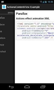 ActionsContentView Example screenshot 4