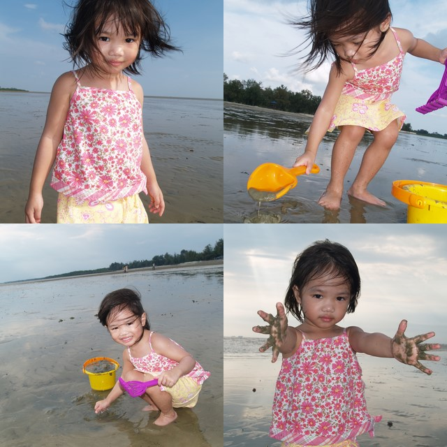 Zara playing at Morib beach