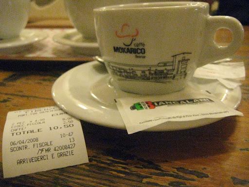 4 euro na cioccolata e 2.50 un caffè..ta fat