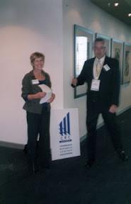 Professor Lyn Beazley and Mark Woffenden