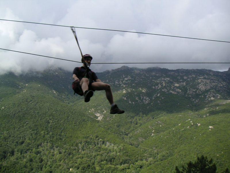 Tyrolean slide