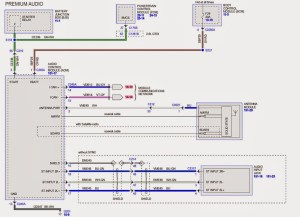 wiring diagram for the sony amplifer  Ford Taurus Forum