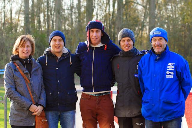 de familie Wallays, met oa Jelle, Jens en Arne