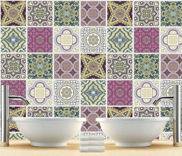 Adhesivos para baldosas como si fueran los 60 for Cubrir azulejos cocina