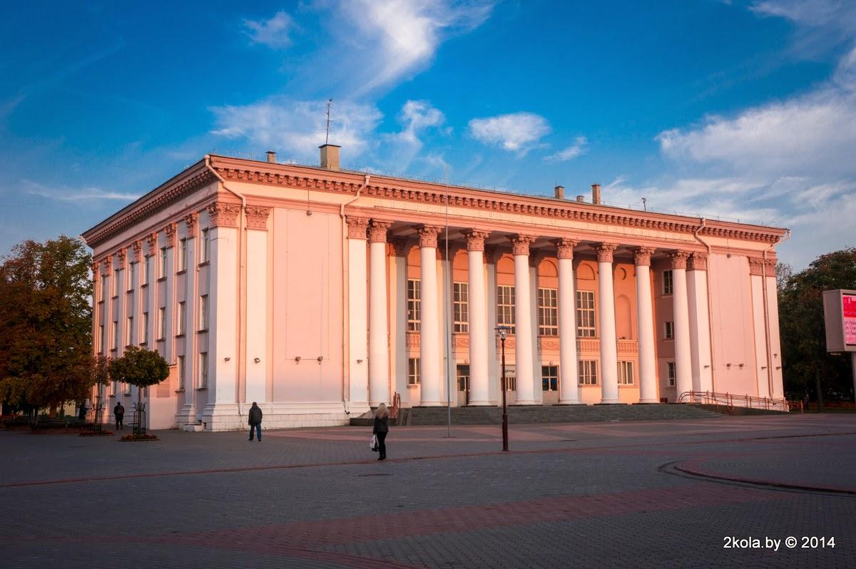 Палац культуры тэкстыльшчыкаў. Галоўны фасад