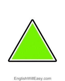 کارت تصویر برای کودکان- شکل مثلث