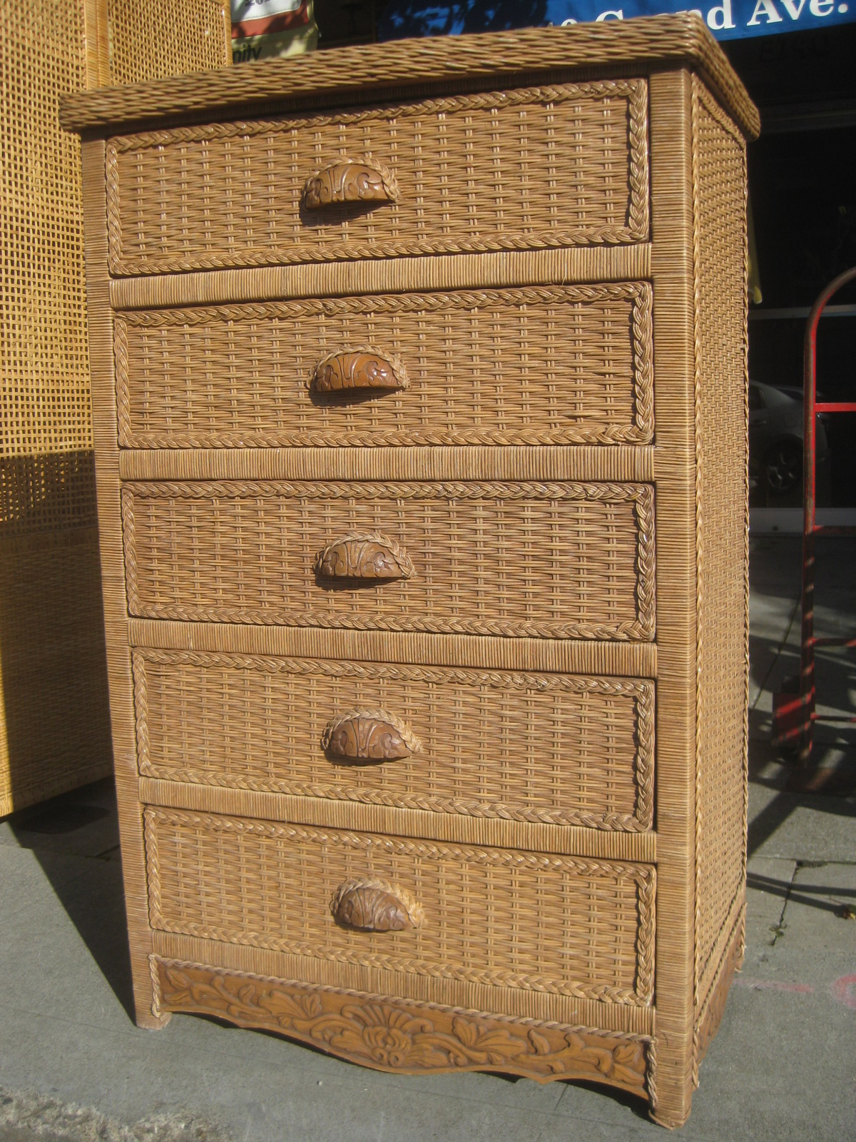 Wicker Chest Of Drawers Furniture Home Decor